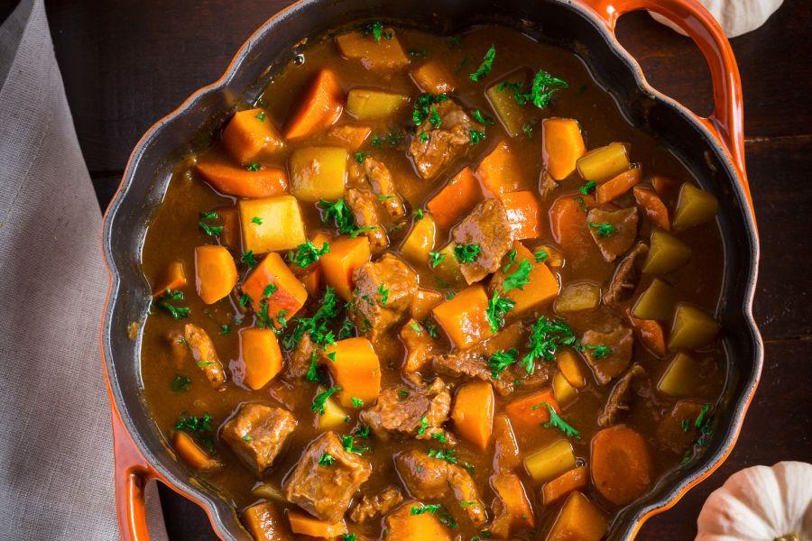 Irish Stew mit Kürbis und Guinness