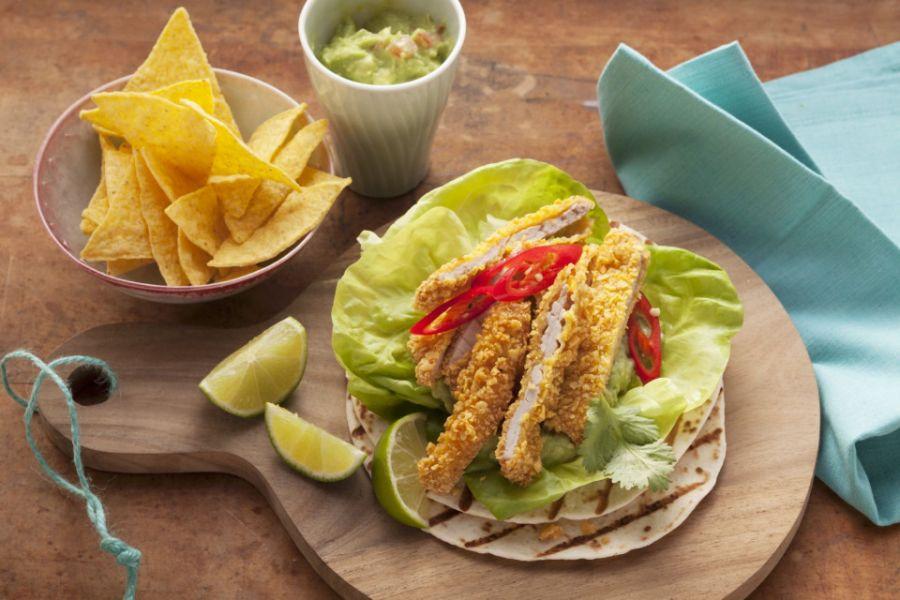 Tortillas mit Knusper-Streifen