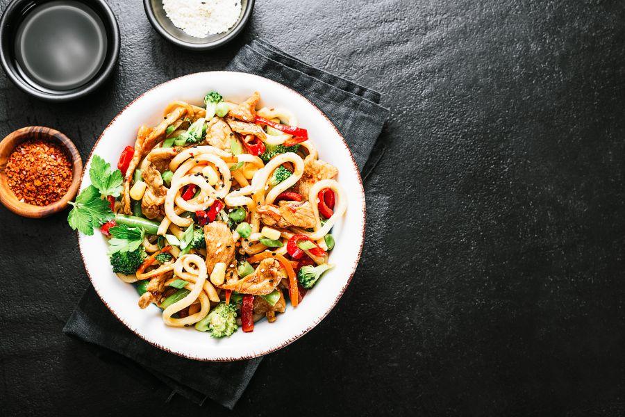 Schneller Gemüse-Puten-Wok