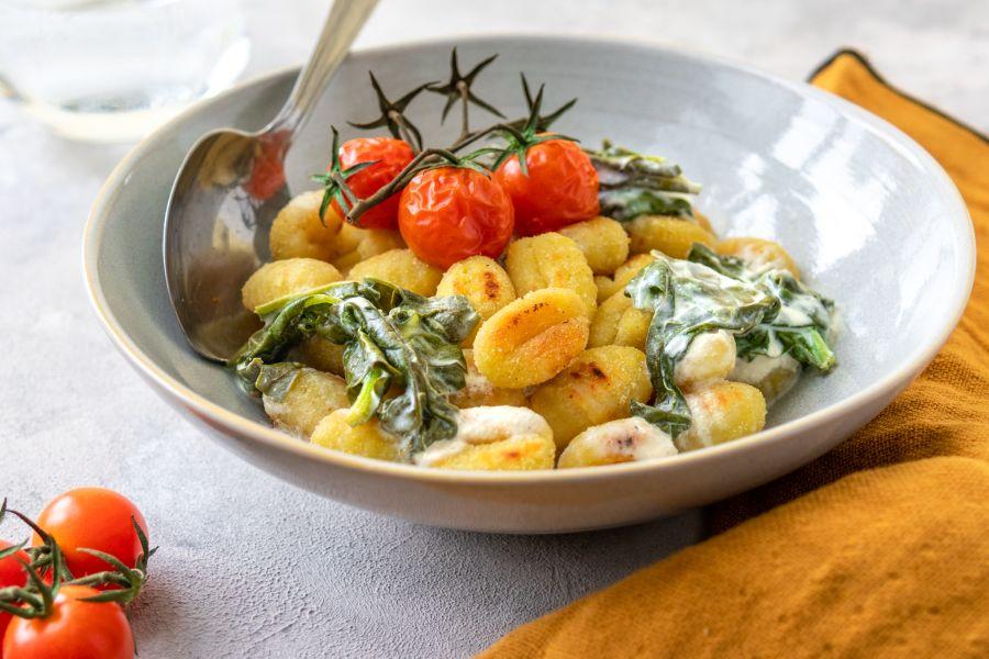 Gnocchi mit Meerrettich-Spinat-Sauce