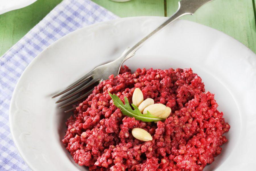Buchweizen-Risotto mit Rote-Bete-Pesto