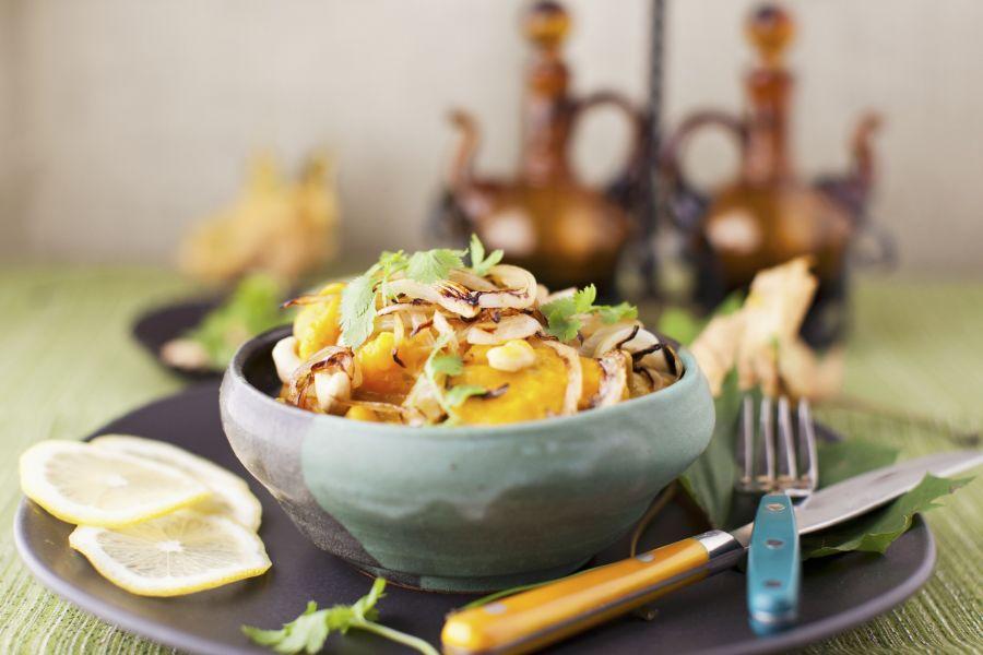 Kokos-Butternusscurry mit Cashews