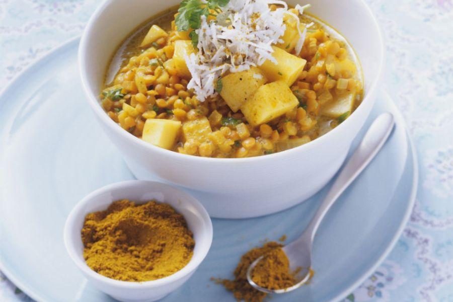 Linsen-Mango-Curry