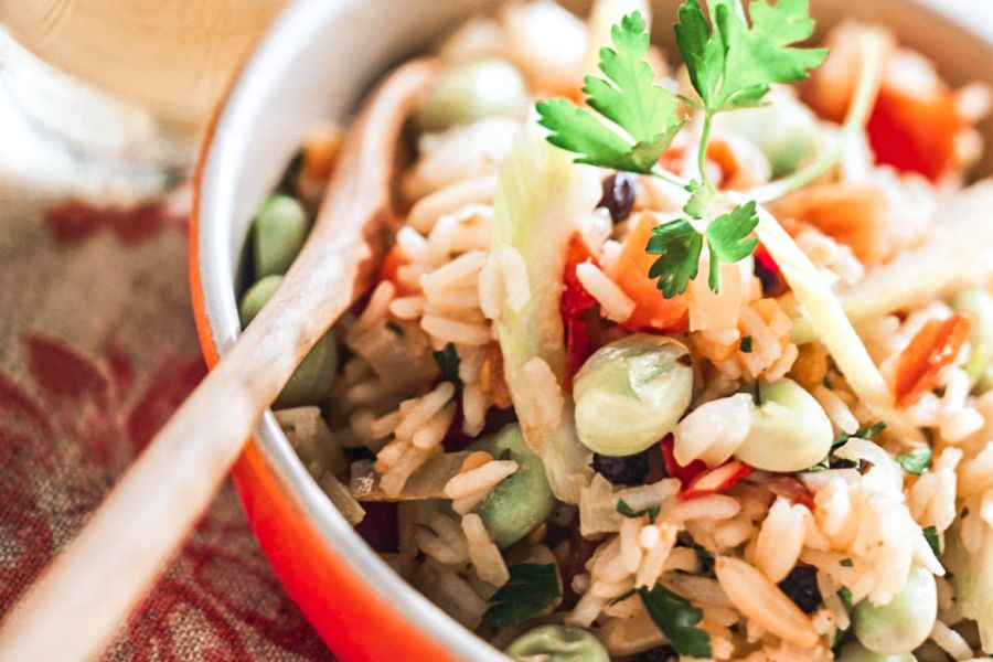 Pilaw mit verschiedenem Gemüse