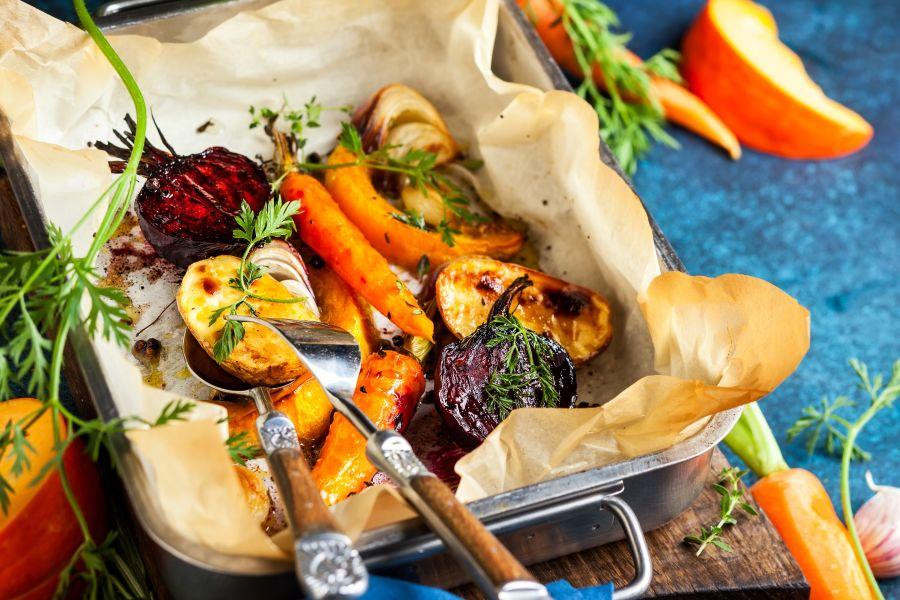 Gebratenes Gemüse aus dem Ofen