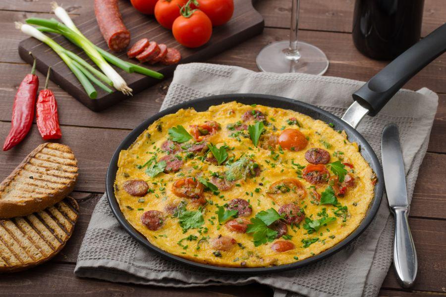 Frittata mit Chorizo und Kartoffeln