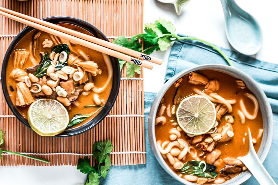 Vegane Tofu-Suppe