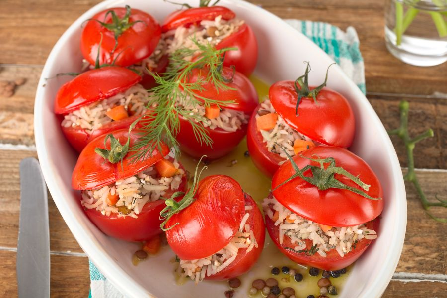 Gefüllte Ofen-Tomaten