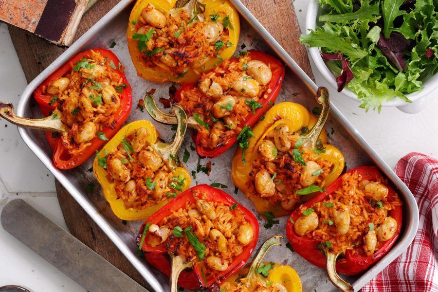 Gebratene gefüllte Paprika