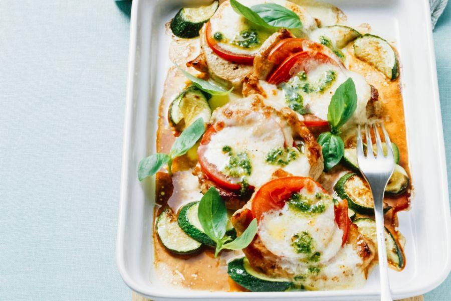 Gratiniertes Kalbsfleisch mit Zucchini & Tomaten