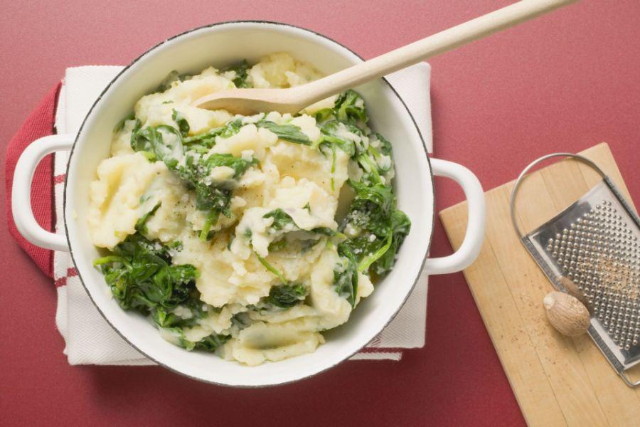 Kartoffelpüree mit Spinat