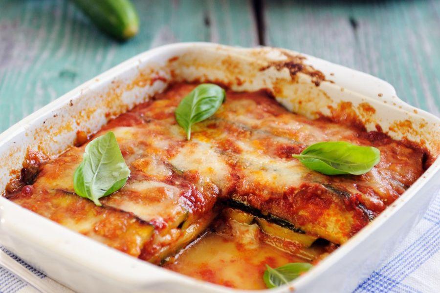 Zucchini-Auberginen-Lasagne