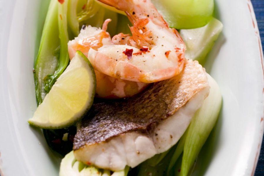 Meeresfrüchte mit Pak Choi