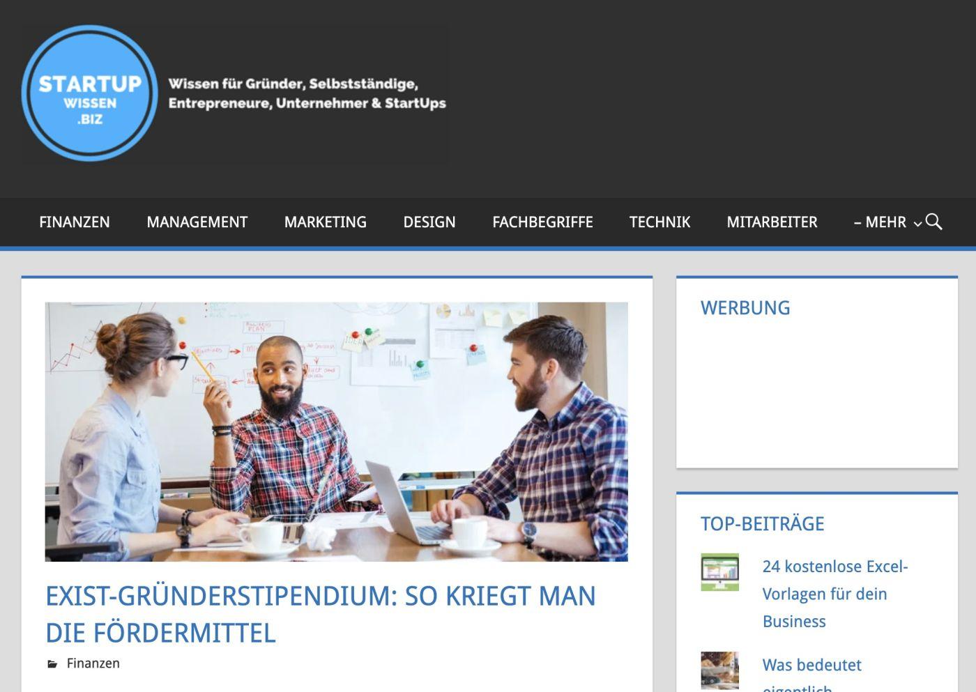 Gastbeitrag bei Startupwissen.biz über das Exist Gründerstipendium
