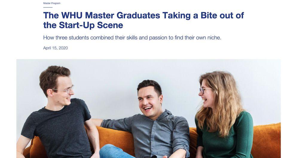 Gründer Interview mit WHU Magazin