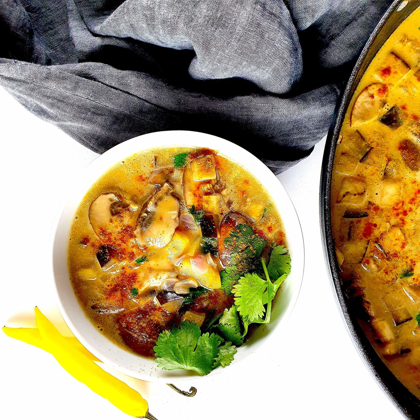 One-Pot-Pilz-Auberginen-Curry