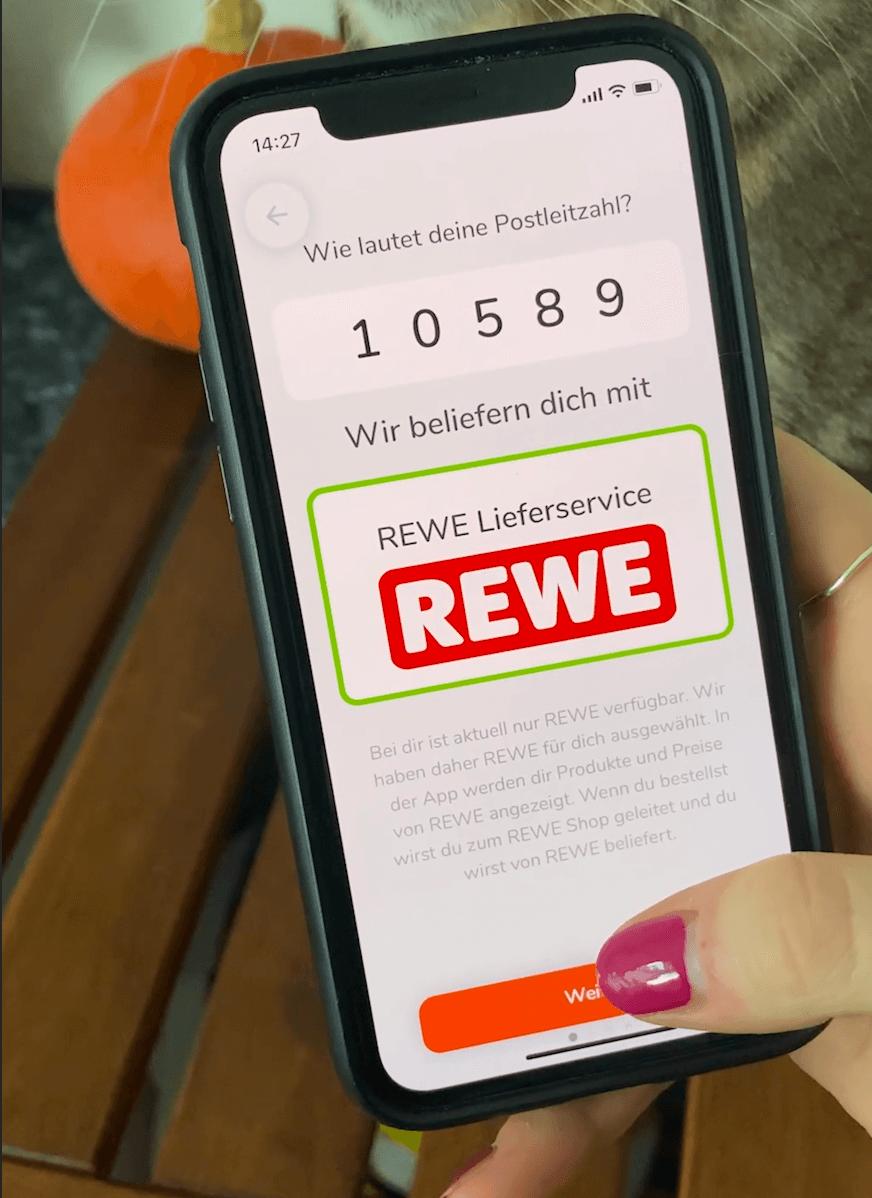 Online-Supermarkt, REWE-Lieferservice, App, foodable