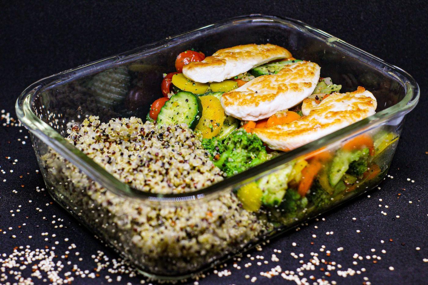 Meal-Prep, schnelle, gesunde Gerichte, Vorkochen