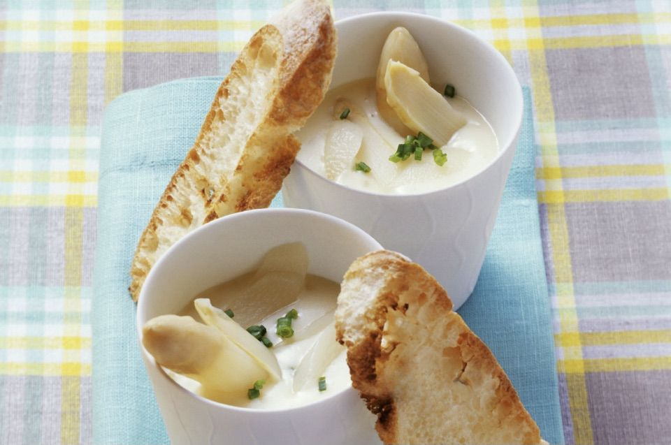 Cremige Spargelsuppe