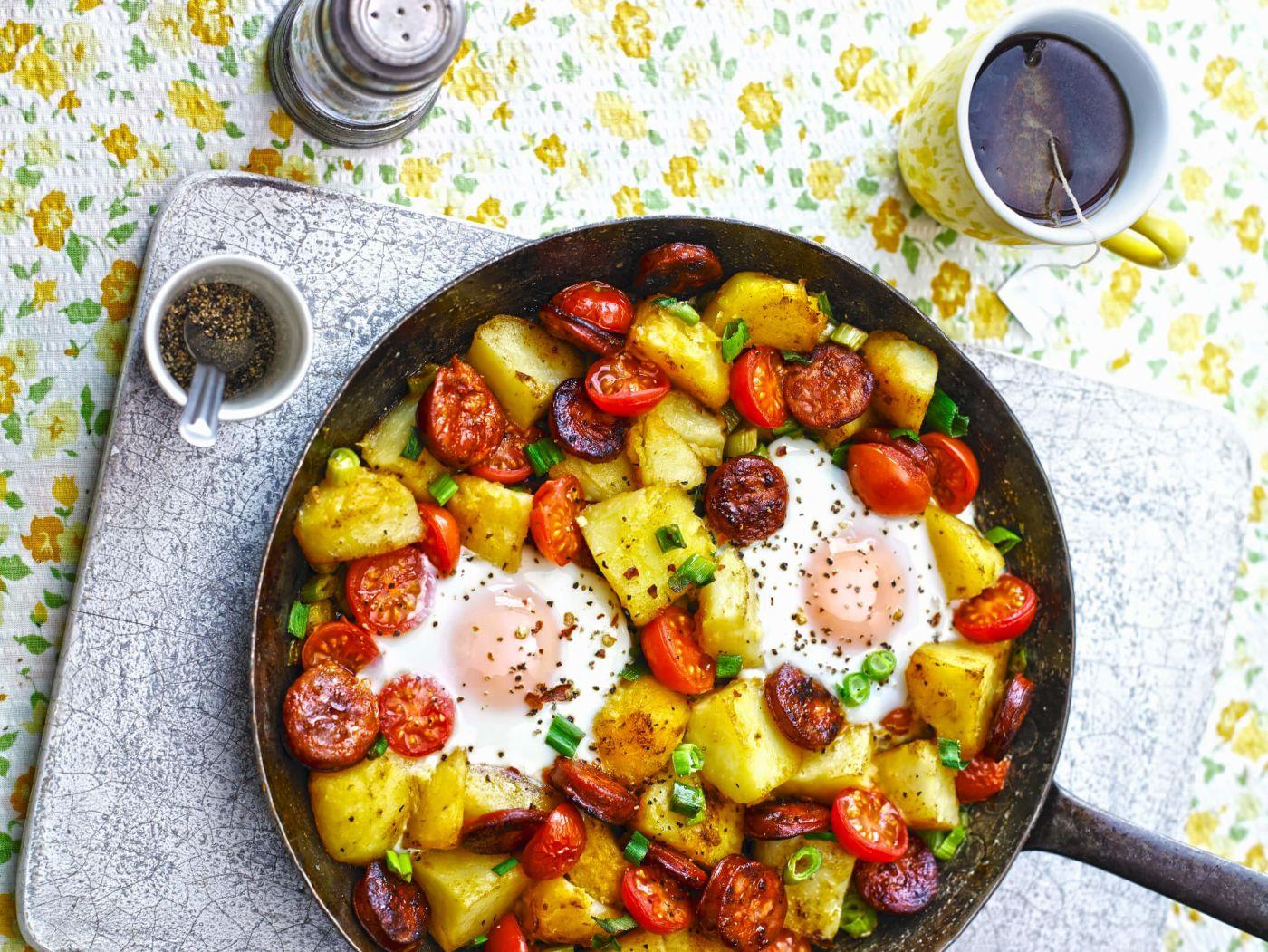 Spanische Karoffelpfanne, spanische Rezepte, spanische Gerichte, spanische Küche, Spaniens Nationalgericht