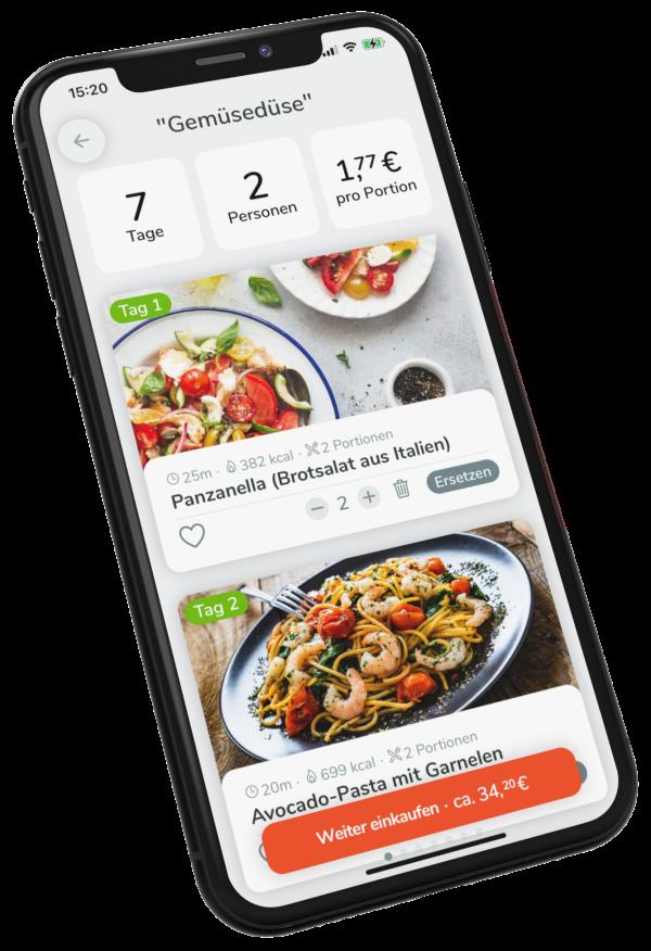 foodable App Einkaufsassistent