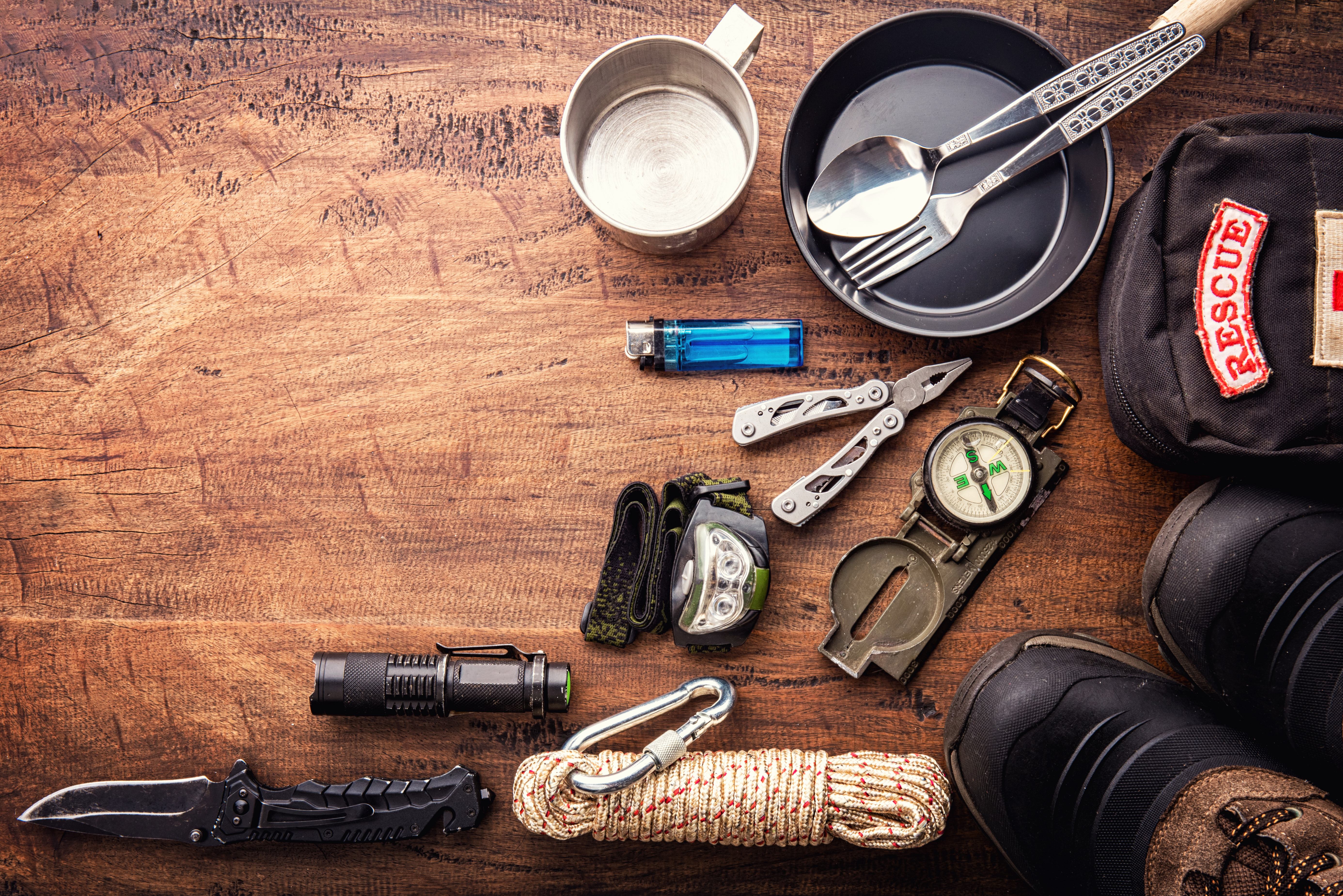 Several objects to survive during a camp.jpg