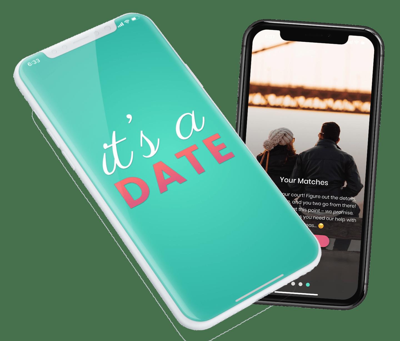 Phone showcasing Its a Date