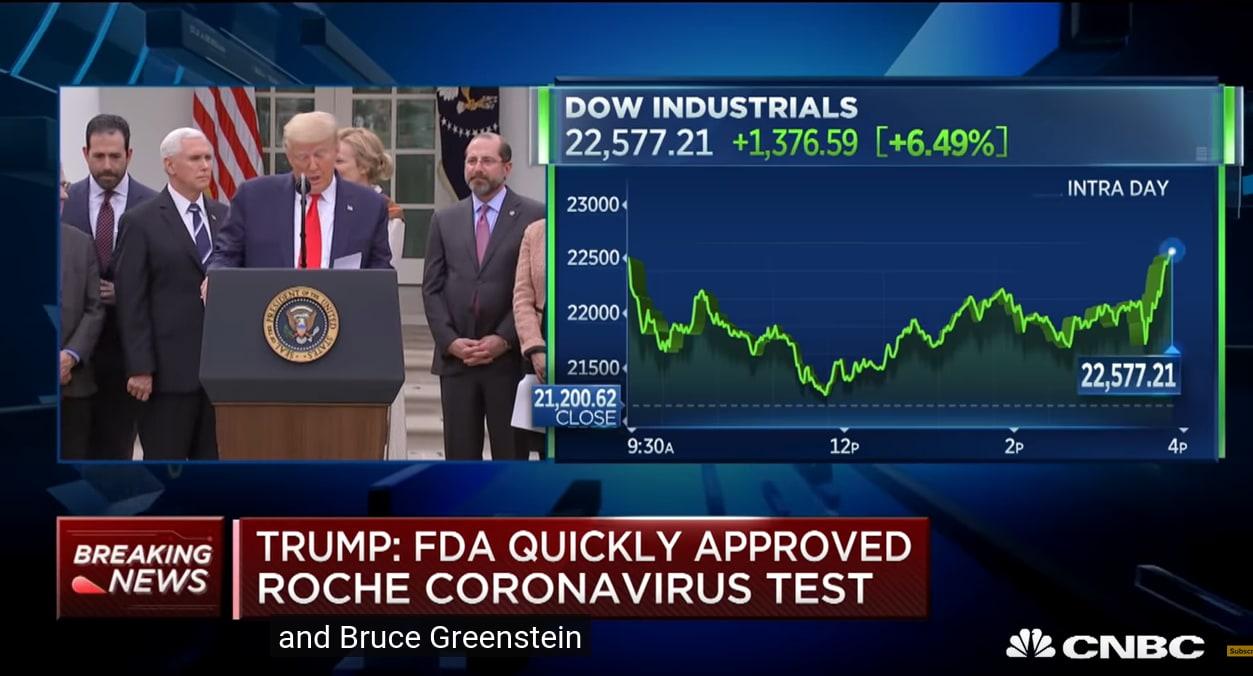 Trump pumping the market