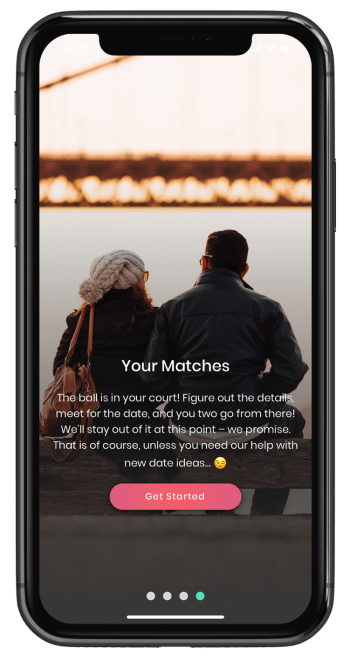 Welcome screen for Its a Date