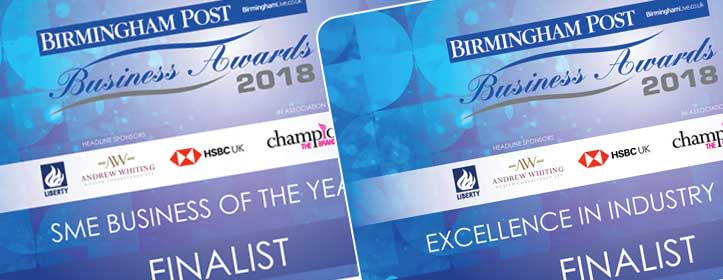 Shortlisted – Birmingham Post Awards