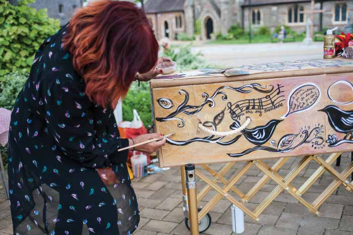 Coffin decorating A Natural Undertaking YODO