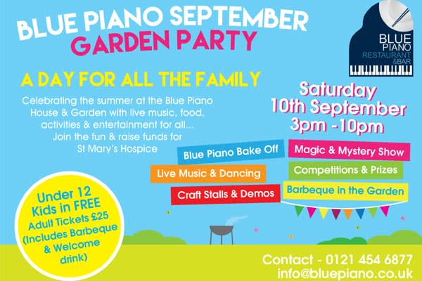 Blue Piano Garden Party