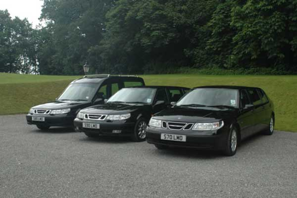 Black hearses and Limos