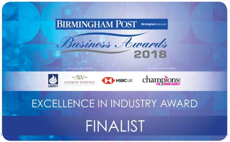 Excellence in industry finalist