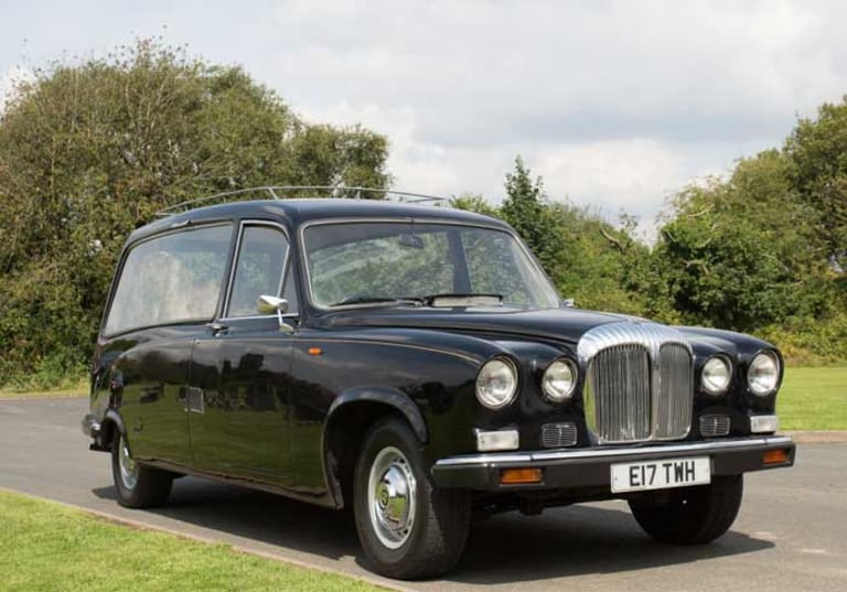 Vintage Daimler hearse