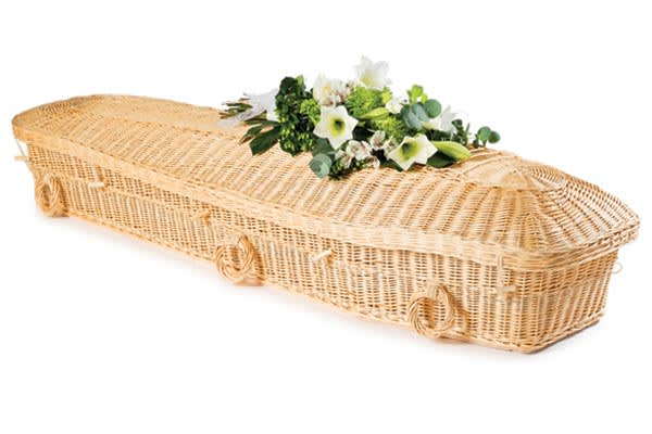 Willow ecopod coffin