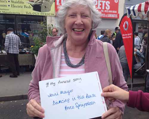 My Funeral Song by a visitor to Kings Heath Street Festival