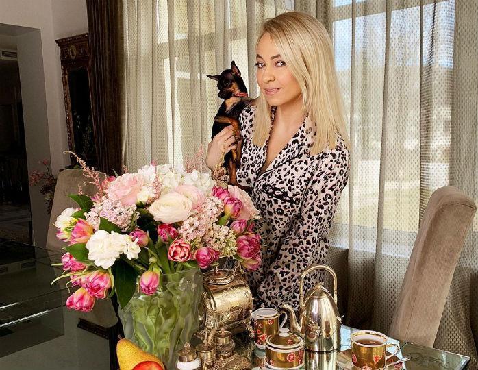 «Ноги просто невероятные»: Яна Рудковская в черном мини-платье станцевала с мужем