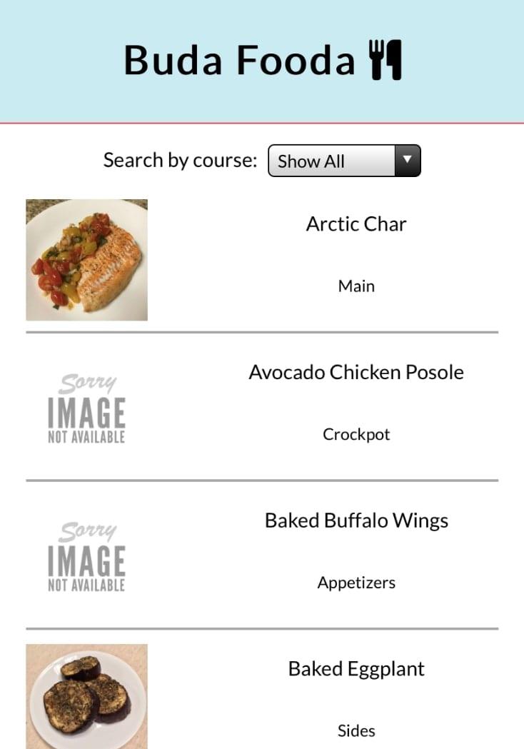 Buda Fooda project mobile version