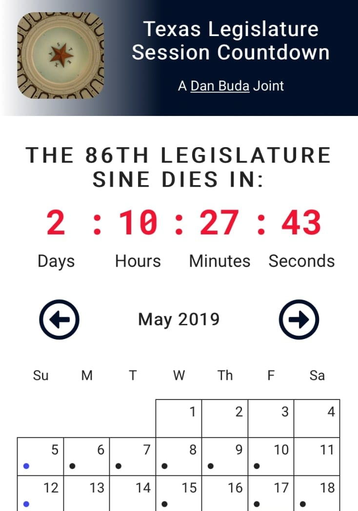 legislature countdown clock mobile version
