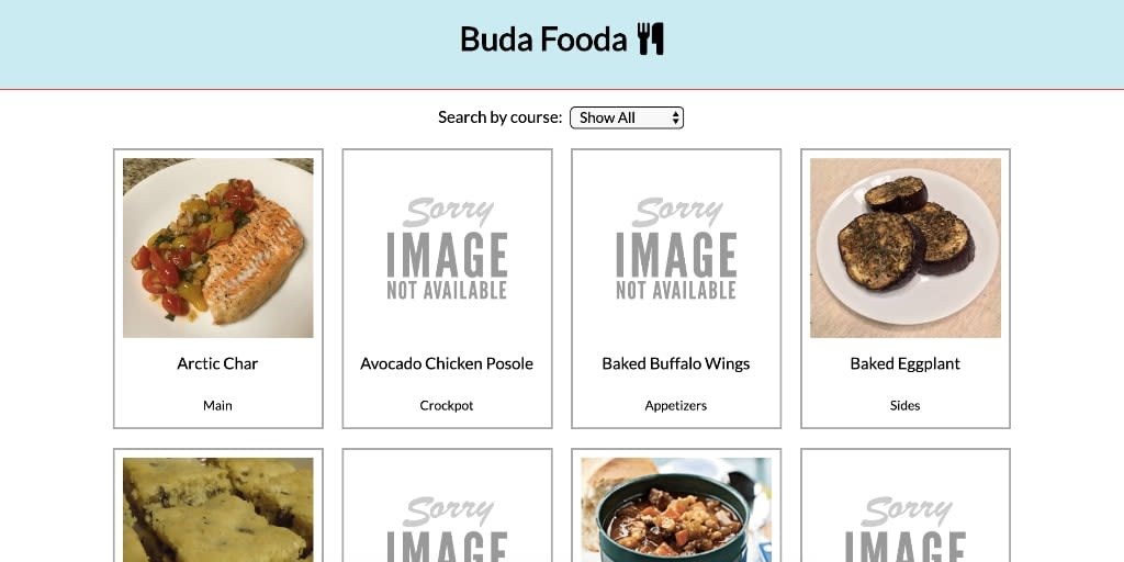 Buda Fooda project desktop version