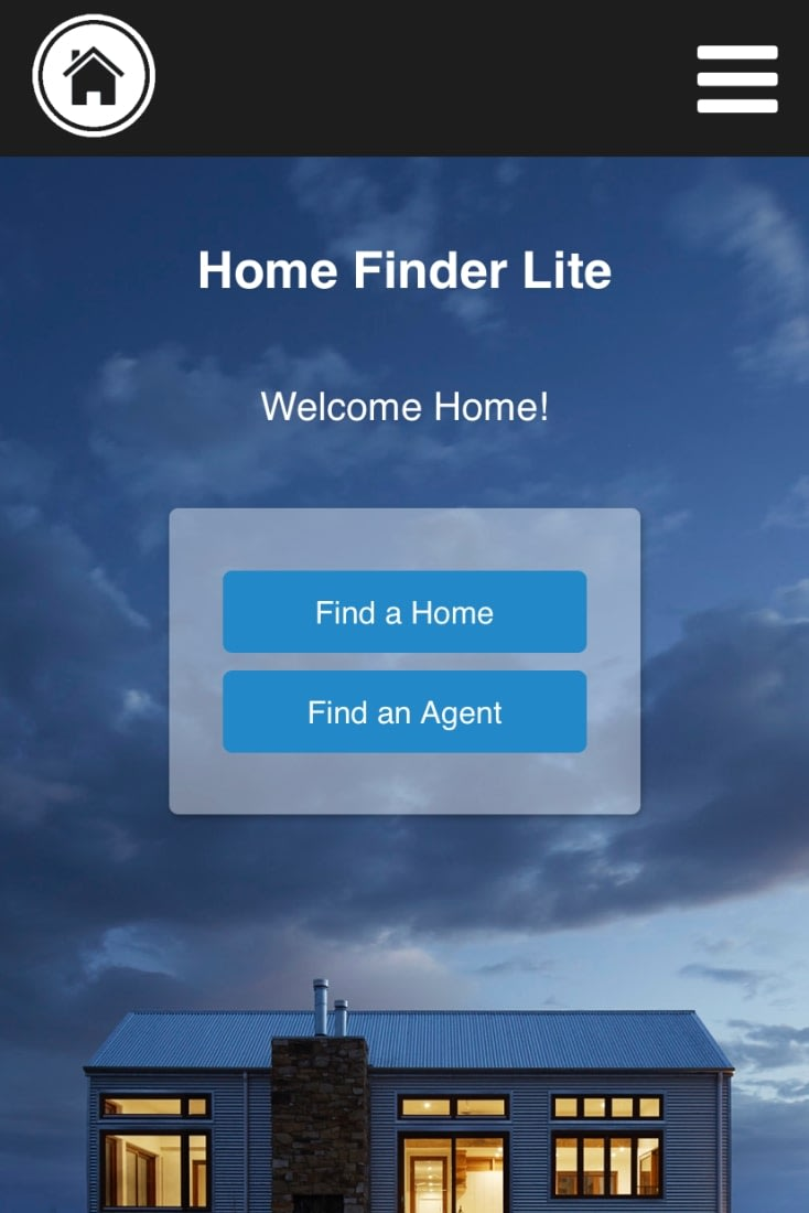 home finder project mobile version