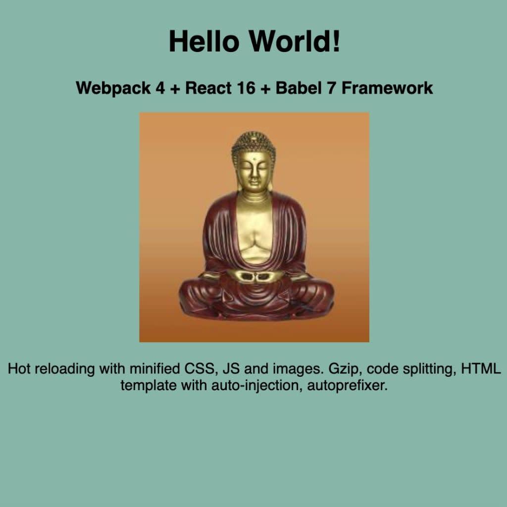 webpack framework project