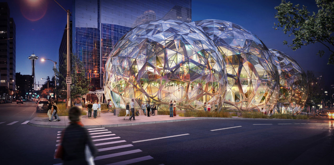 Amazon's biodome by NBBJ. Source: NBBJ