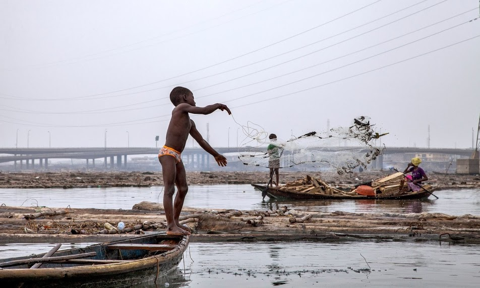 Makoko: A value-adding slum in West Africa's Megalopolis. Photograph: Andrew Esiebo for theguardian.com