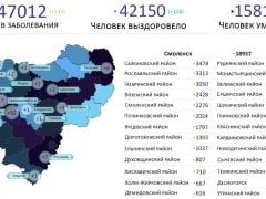 В Смоленской области назвали районы, которые «атаковал» коронавирус
