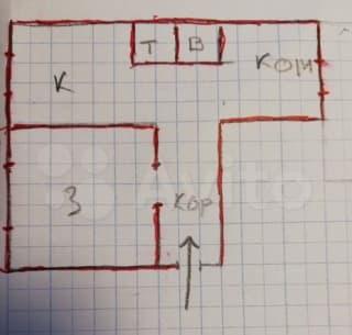 2-к. квартира, 55м², 5/5эт.