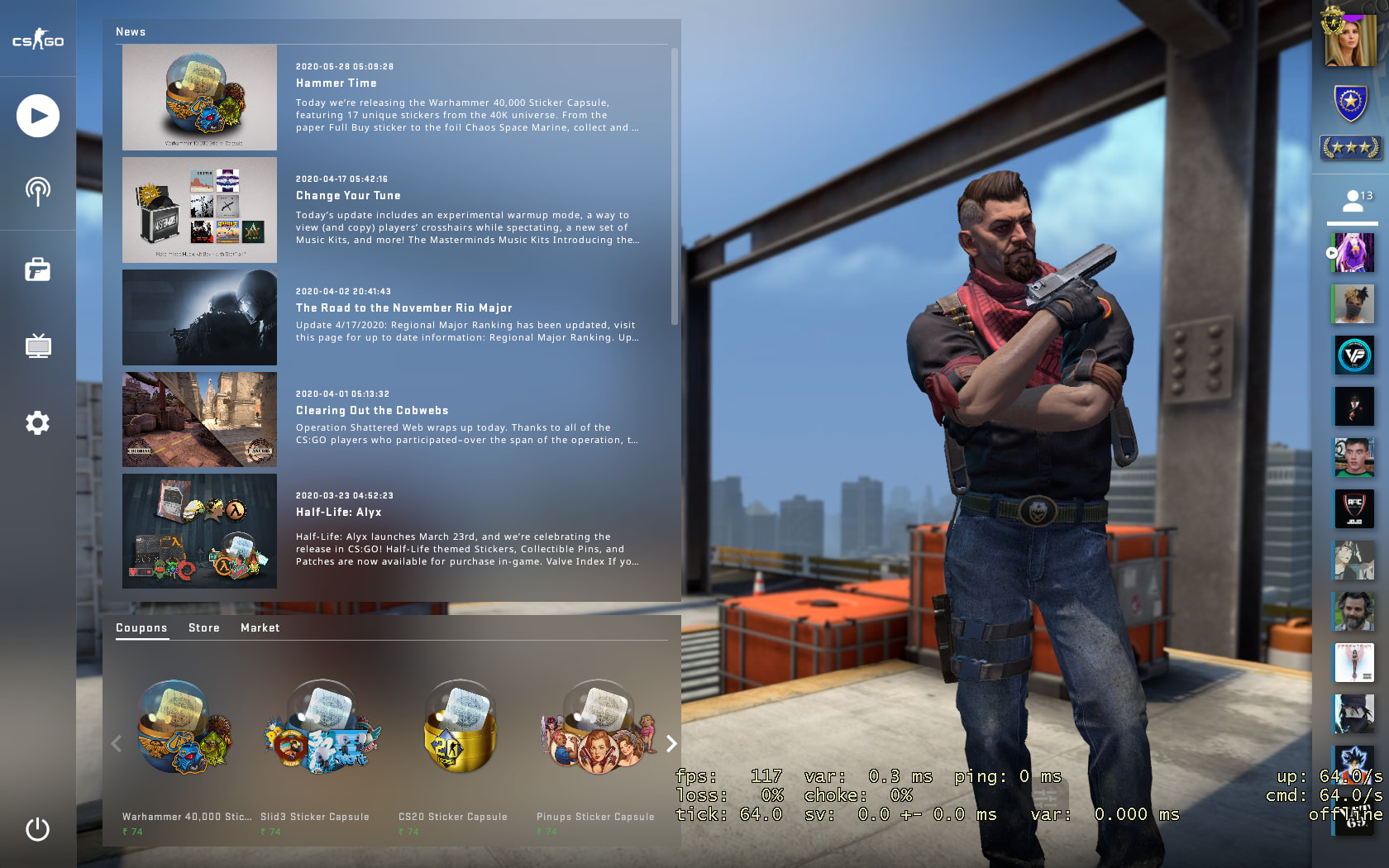 C4 Kill Feed, Improved Grenade Mechanics, Background Selection added In New BIG CSGO UPDATE 9