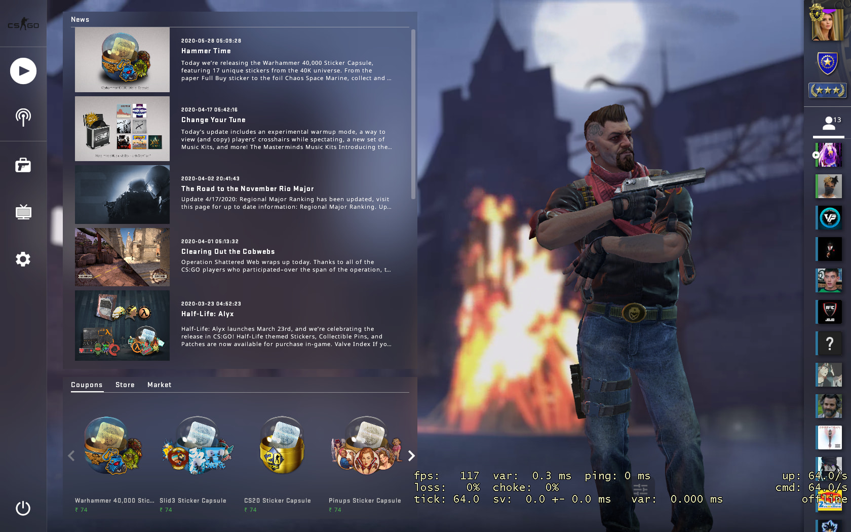 C4 Kill Feed, Improved Grenade Mechanics, Background Selection added In New BIG CSGO UPDATE 3