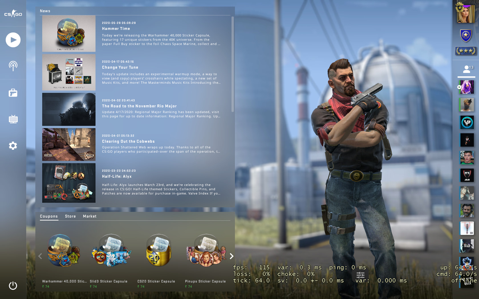 C4 Kill Feed, Improved Grenade Mechanics, Background Selection added In New BIG CSGO UPDATE 7